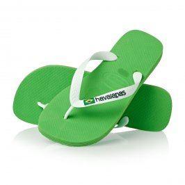 Dámské žabky Havaianas Brasil Logo, zelené
