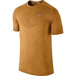 Pánské běžecké triko Nike Dri–Fit Knit SS, žluté, XL