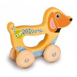 O-OOPS Easy-Go! - Dřevěná jezdící hračka (Dog Happy)