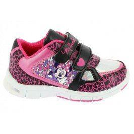 Disney by Arnetta Dívčí svítící tenisky Minnie - růžové, EUR 23