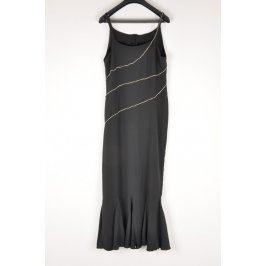 Šaty na ramínka černé Andrea Martiny