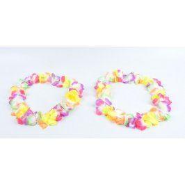 Barevné květinové věnce do vlasů