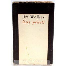 Kniha Jiří Wolker: Listy příteli