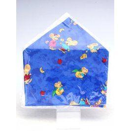 Dětský ubrus modrý s motivem myšek 44x44 cm