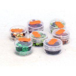 Ozdobné flitry různé barvy