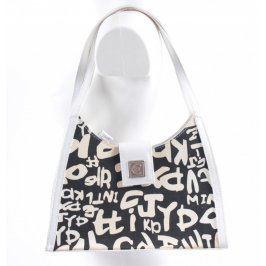 Dámská kabelka černobílá s logem Euro