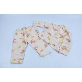 Dětské pyžamo bílé s motivy králíčků