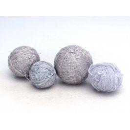 Vyšívací příze - různé odstíny šedé