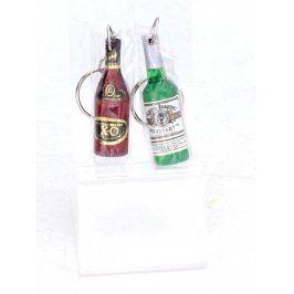 Přívěsky ve tvaru lahve s alkoholem, 3 ks