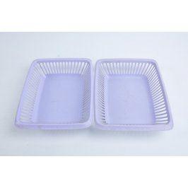 Plastové fialové košíky 2 kusy
