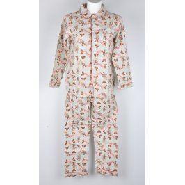 Dětské flanelové pyžamo Handy béžové