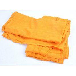 Bavlněné přehozy oranžové barvy