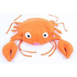 Plyšový krab oranžové barvy