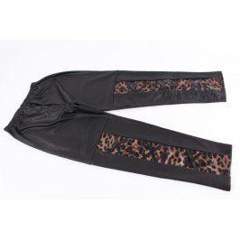 Dámské kalhoty Ruyiz černé s tygrovaným