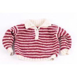 Dětský pletený svetr s proužky