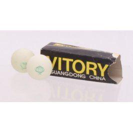 Pingpongový míček Vitory bílý 2 kusy