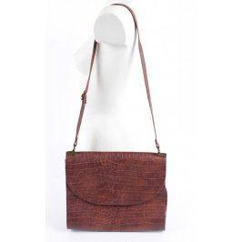 Dámská kabelka se vzory hnědé barvy