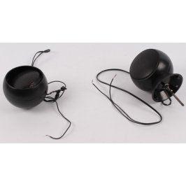 Kulové reproduktory černé