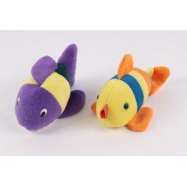 Barevná plyšová ryba - 2 kusy