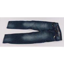 Pánské džíny tmavě modré vyšisované