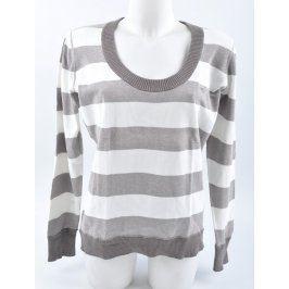 Pánský svetr šedo bílé pruhy