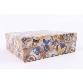 Papírová krabice s vánočním motivem