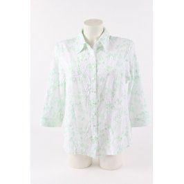 Dámská košile bílá se zelenými prvky