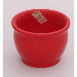 Keramický květináč červený