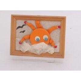 Dětská dekorace sluníčka v rámu