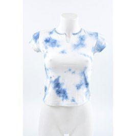 Dámské batikované tričko modrobílé Wisdom