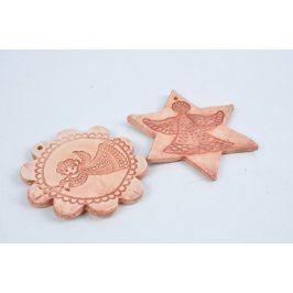 Keramická dekorace hvězda a květina