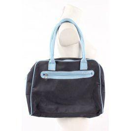 Dámská černá kabelka modře lemovaná