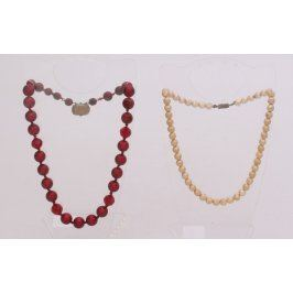 Korálové náhrdelníky 2 ks