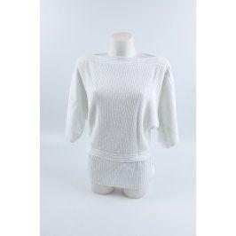Dámský bílý svetr se stříbrnými nitky Zo-Ja