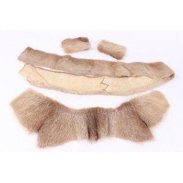 Kožešinové výrobky z liščí kůže 4 kusy