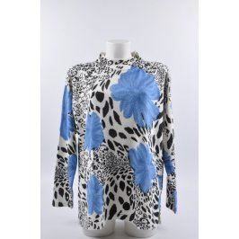 Dámský bílý svetr s modrými květy Mia Maria