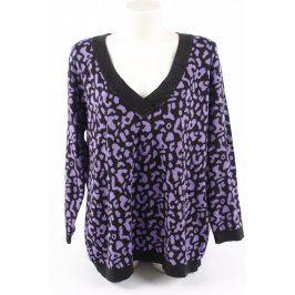 Dámský svetr Couture Line fialovočerný