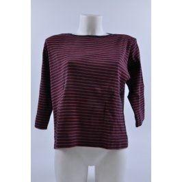 Dámské tričko černé s červenými proužky