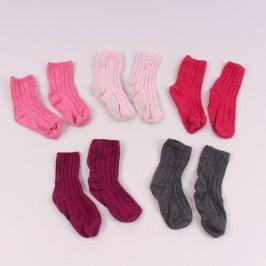 Dětské ponožky různé barvy: 5 párů