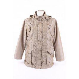 Dámská béžová bunda s kapucí Euforis