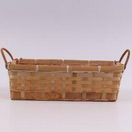 Dřevěný košík s igelitovou vsadkou
