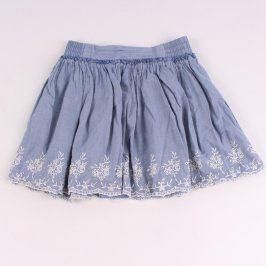 Dívčí modrá sukně H&M s výšivkou