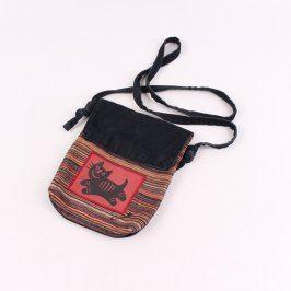 Dámská látková kabelka s motivem kočky