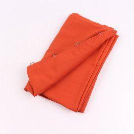 Závěs oranžový s kroužky