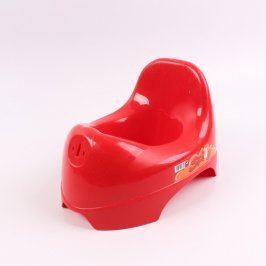 Nočník OK baby Spidy červené barvy