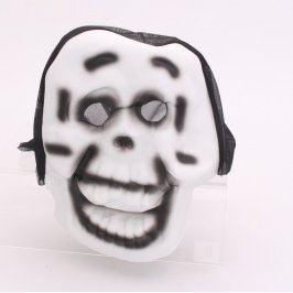 Maska na karneval černo-bílé barvy
