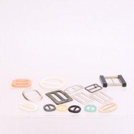 Textilní spony různých tvarů - 15 kusů