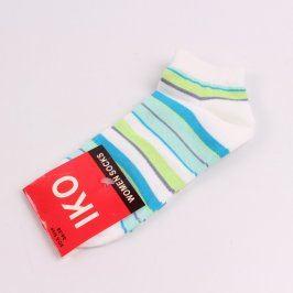 Dámské pruhované kotníčkové ponožky IKO