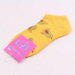 Dívčí žluté ponožky s ptáčky Fachara