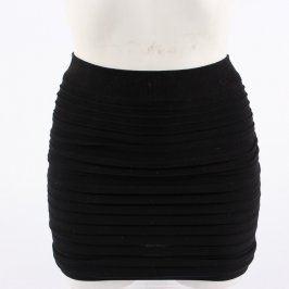Dámská elastická černá minisukně vrstvená